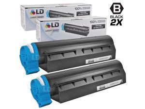 LD © Set of 2 Okidata Compatible 44574701 Black Laser Toner Cartridge for the MB461 MFP, MB471, MB471W, B411d, B411dn, B431d ...