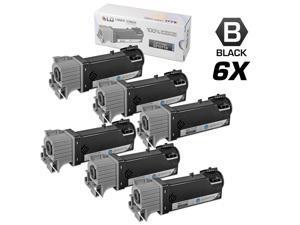 LD © Compatible Dell 2150cdn 2150cn 2155cdn 2155cn Set of 6 331-0719 Black Laser Toner Cartridges