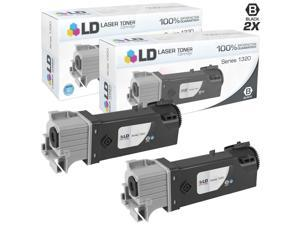 LD © Compatible Dell KU052 (310-9058) Set of 2 High Yield Black Toner Cartridges for 1320/1320C Printers
