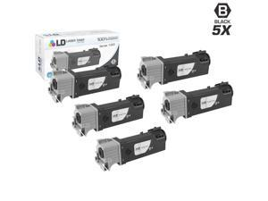 LD © Compatible Dell KU052 (310-9058) Set of 5 High Yield Black Toner Cartridges for 1320/1320C Printers