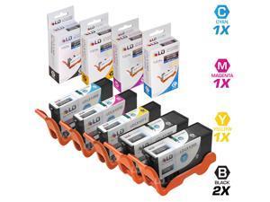 LD © Compatible Lexmark 100XL / 100 Set of 5 High Yield Ink Cartridges: 2 Black 10N1068 & 1 each of Cyan 14N1069, Magenta ...