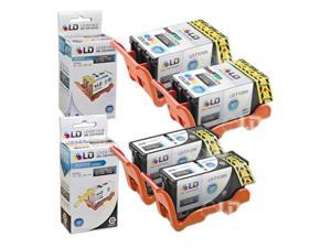LD © Compatible Set of 4 (Series 23) High Yield Black & Color Ink Cartridges for the Dell V515w Printer: 2 Black T105N, 2 ...