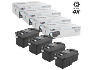 LD © Compatible Dell 331-0778 Set of 4 Black Laser Toner Cartridges for use in the Color Laser C1760nw, C1765nf, C1765nfw, ...