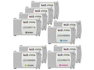 LD © Remanufactured Replacement Ink Cartridges for Hewlett Packard (HP 80): 2 Black C4871A, 1 each of Cyan C4846A, Magenta ...