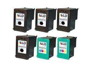 LD Remanufactured Ink Cartridge Replacements for HP CB336WN HP 74XL / 74 HY Black & CB338WN HP 75XL /75 HY Color 4 Blk & ...