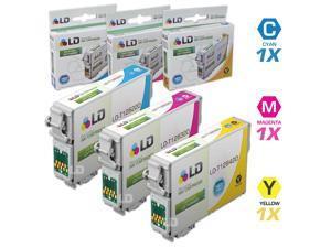 LD © Epson Remanufactured T126 Set of 3 High Capacity Ink Cartridges: 1 Cyan (T1262), 1 Magenta (T1263), 1 Yellow (T1264)