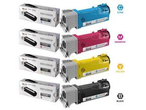 LD © Compatible Set of 4 Dell 1320 / 1320c Toner Cartridges: 1 Black KU052, Cyan KU053, Magenta KU055, and Yellow KU054