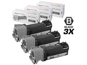 LD © Compatible Dell 331-0719 Set of 3 Black Laser Toner Cartridges for use in Dell  2150cdn, 2150cn, 2155cdn & 2155cn Printers