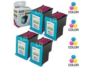 LD © Remanufactured Replacement Ink Cartridges for Hewlett Packard C9361WN (HP 93) Tri-Color (4 Pack)