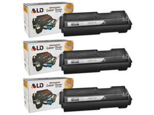LD © Compatible Kyocera Mita TK112 Set of 3 Black Toner Cartridges