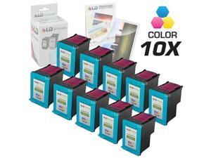 LD © Remanufactured Replacement Ink Cartridges for Hewlett Packard C8766WN (HP 95) Tri-Color (10 Pack) + Free 20 Pack of ...