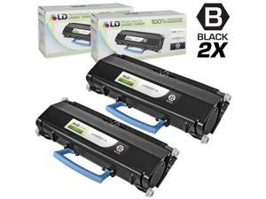 LD © Compatible Lexmark E260A11A Set of 2 Black Laser Toner Cartridges