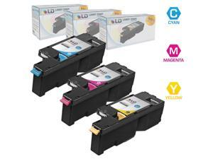 LD © Compatible Dell 1250c 331-0777, 331-0779, 331-0780 Set of 3 Color Toner Cartridges: 1 Cyan, 1 Magenta and 1 Yellow