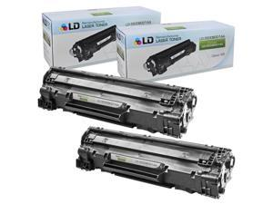 LD © Remaunfactured Canon 3500B001AA (128) Set of 2 Black Laser Toner Cartridges