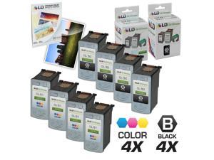 LD © Canon PG-50 & CL-51 Remanufactured Combo Set - 4 Black PG-50 and 4 Color CL-51
