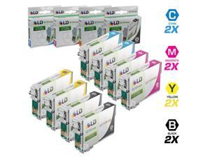 LD © Epson Remanufactured T125 Set of 8 Standard Yield Ink Cartridges: 2 Black (T1251) & 2 Cyan (T1252), 2 Magenta (T1253), ...