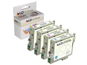 LD © Epson C64, CX4600, C66 Remanufactured Set of 4 Ink Cartridges: 1 Black T044120 & 1 each of Cyan T044220 / Magenta T044320 ...