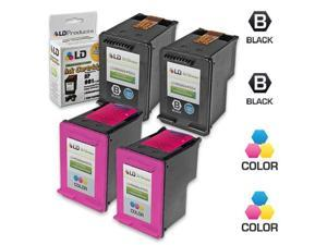 LD Remanufactured Ink Cartridge Replacements for (HP) CC654AN 901XL & CC656AN 901 (2 Blk & 2 Clr) for OfficeJet J4540, J4580, ...