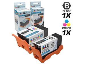 LD © Compatible Set of 2 (Series 24) High Yield Black & Color Ink Cartridges for the Dell P713w and V715w Printers: 1 Black ...