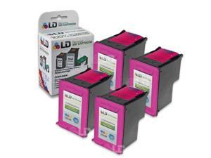 LD © Remanufactured Replacement Ink Cartridges for Hewlett Packard CC644WN HP 60XL / 60 High-Yield Tri-Color (4 Pack)