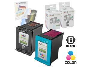 LD © Remanufactured Ink Cartridge Replacements for HP C9364WN (HP 98) Black and HP C8766WN (HP 95) Color (1 Black and 1 Color) ...