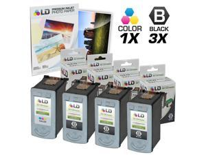 LD © Remanufactured Canon #PG-30 & #CL-31 Combo Set - 3 Black #PG-30 and 1 Color #CL-31 & Free 20 Pack of LD Brand 4x6 Photo ...