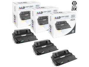 LD Remanufactured Replacement Laser Toner Cartridges for HP Q5942A (42A) Black (3 Pack) for the LaserJet 4250tn, 4250, 4350dtn, ...