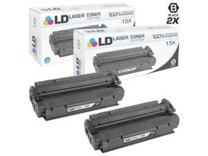 LD © Compatible Replacements for HP C7115X (15X) Set of 2 HY Cartridges for LaserJet 1200, 1200n, 1200se, 1220, 1220se, 3300, ...
