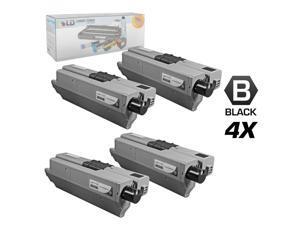 LD © Compatible Okidata 44469801 (Type C17) Set of 4 Black Laser Toner Cartridges