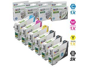 LD © Epson Remanufactured T126 Set of 6 High Capacity Ink Cartridges: 3 Black (T1261), 1 Cyan (T1262), 1 Magenta (T1263),1 ...