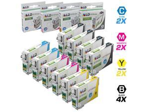 LD © Epson Remanufactured T126 Set of 10 High Capacity Ink Cartridges: 4 Black (T1261), 2 Cyan (T1262), 2 Magenta (T1263), ...