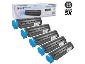 LD © Set of 5 Okidata Compatible 44992405 Black Laser Toner Cartridge for the MB451W MFP Printers