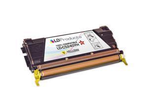 LD © Remanufactured C5240YH High Yield Yellow Laser Toner Cartridge for Lexmark C524