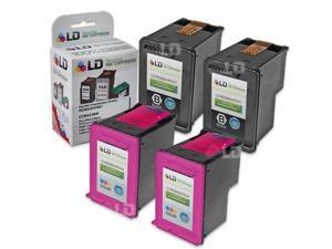 LD © Remanufactured Ink Cartridge Replacements for HP CC641WN HP 60 XL Black and HP CC644WN HP 60XL / 60 Color (2 Black and ...