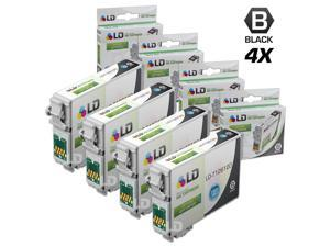 LD © Remanufactured Epson T126120 Set of 4 High Capacity Black Ink Cartridges
