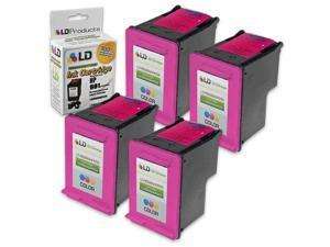 LD © Remanufactured Replacement Ink Cartridges for Hewlett Packard CC656AN (HP 901) Tri-Color (4 Pack)