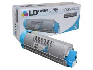 LD © Compatible Replacement for Okidata 43865719 High Yield Cyan Laser Toner Cartridge for use in Okidata OKI C6150dn, C6150dtn, ...