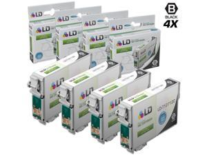 LD Epson Remanufactured T127 Set of 4 Extra HY Ink Cartridges: 4 Black T127120 for Stylus NX530, NX625, WorkForce 3520, 3530, ...