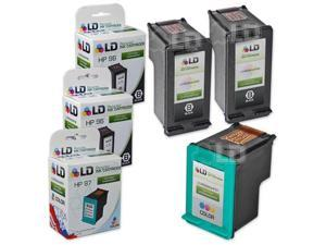 LD © Remanufactured Replacement Ink Cartridges for Hewlett Packard (HP) C8767WN (HP 96) Black and C9363WN (HP 97) Color (2 ...