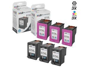 LD © Remanufactured Replacements for Hewlett Packard HP 61XL / 61 6PK High Yield Ink Cartridges Includes: 3 CH563WN Black, ...
