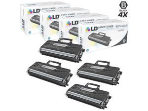 LD © Compatible Brother TN360 (TN330) Set of 4 HY Black Cartridges for DCP-7030, DCP7-7040, DCP-7045N, HL-2140, HL-2150N, ...