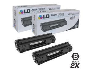 LD © Compatible Replacement Laser Toner Cartridges for Hewlett Packard CB436A (HP 36A) Black (2 Pack) for use in the following ...