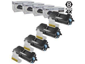 LD © Set of 4 Compatible Kyocera-Mita Black TK-3112 / 1T02MT0US0 Laser Toner Cartridges for use in FS-4100DN Printers