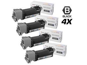 LD © Compatible Dell 2150cn Set of 4 Black 331-0719 Laser Toner Cartridges for use in Dell  2150cdn, 2150cn, 2155cdn & 2155cn ...