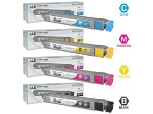 LD © Compatible Xerox Phaser 7400 Set of 4 High Yield Laser Toner Cartridges: 1 106R01080 Black, 1 106R01077 Cyan, 1 106R01078 ...