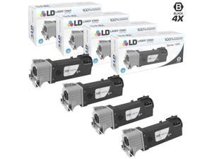 LD © Compatible Dell KU052 (310-9058) Set of 4 High Yield Black Toner Cartridges for 1320/1320C Printers