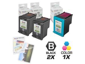 LD © Remanufactured Ink Cartridge Replacements for HP C9364WN (HP 98) Black and HP C8766WN (HP 95) Color (2 Black and 1 Color) ...