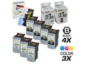 LD © Canon PG-50 & CL-51 Remanufactured Combo Set - 4 Black PG-50 and 3 Color CL-51