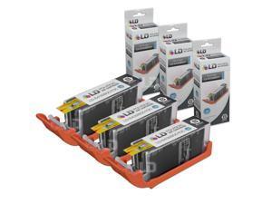 LD Compatible Canon PGI-250XL / PGI-250 / 6432B001 Set of 3 High Yield Pigment Black Inkjet Cartridges for PIXMA MX922,  ...