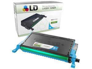 LD © Remanufactured Replacement CLP-C660B High Capacity Cyan Laser Toner Cartridge for use in Samsung CLP-610ND, CLP-660N, ...